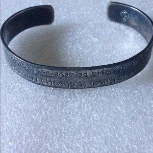 Vintage crown cuff bracelet